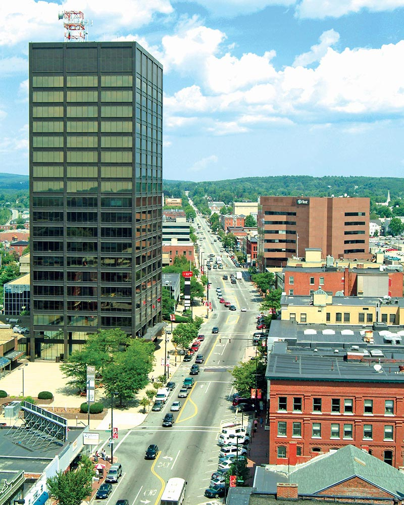 Urban plan Manchester New Hampshire