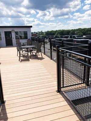 Lots of sunshine to enjoy on the Alco rooftop deck