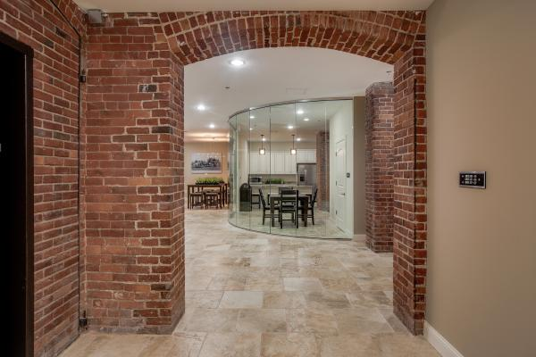Beautiful exposed brick and beams